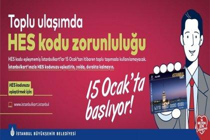 İstanbul'da toplu ulaşımda HES kodu zorunluluğu başlıyor