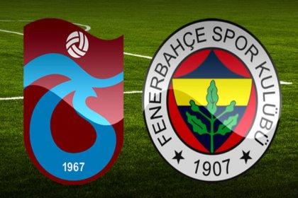 Trabzonspor ve Fenerbahçe bu akşam karşı karşıya geliyor