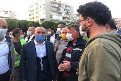 Tunç Soyer'den İzmirlilere çağrı: Bayraklı'da enkaza ulaşım ve yaralı nakli için ana arterleri boş bırakalım