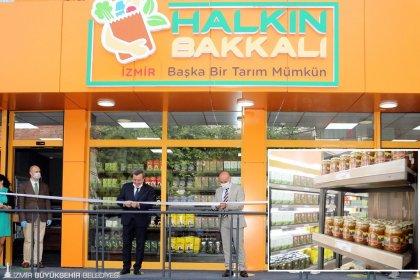 Tunç Soyer'in vaatleri arasında yer alan Halkın Bakkalı'nin ikinci şubesi açıldı