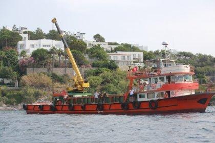 Türkiye'de ilk kez su altından kıyı denetimi Bodrum'da başladı