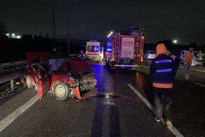 Tuzla TEM Otoyolu'nda trafik kazası: 2 ölü