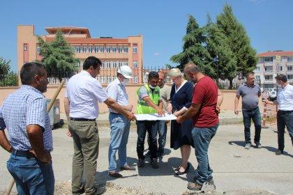 Uzunköprü Belediye Başkan Özlem Becan doğalgaz çalışmalarını inceledi