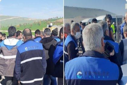 Yandaş Cengiz İnşaat'ın şantiyesinde işçiler grev başlattı