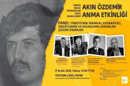 Ziraat Mühendisleri Odası Adana Şubesi'nden 'Akın Özdemir'i anma etkinliği'