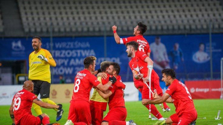Ampute Futbol Milli Takımımız, İspanya'yı 6-0 yendi; 2021 EAFF Avrupa Şampiyonu oldu