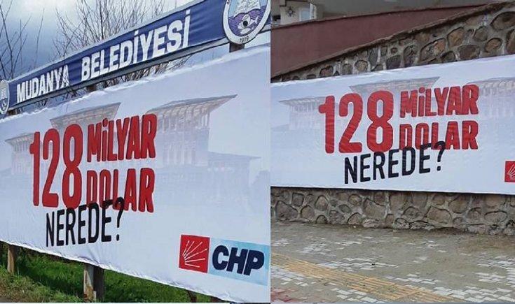 '128 milyar dolar nerede' afişlerine 'Cumhurbaşkanına hakaretten' soruşturma