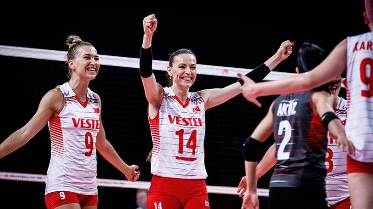 A Milli Kadın Voleybol Takımı, Rusya'yı 3-2 mağlup etti