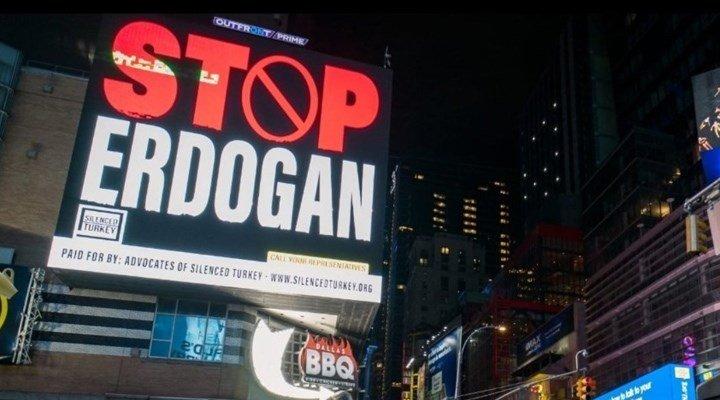 ABD'de 'Stop Erdoğan' ilanları yayınlandı, Ankara Cumhuriyet Başsavcılığı soruşturma başlattı