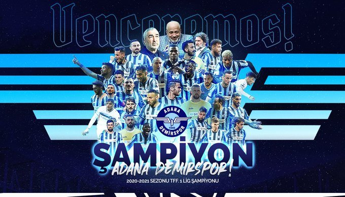 Adana Demirspor, 1. Lig şampiyonu oldu, Süper lige yükseldi