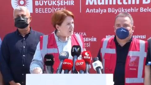 Akşener: Orman yangınlarına sebep olanlar terör üyeliği ile yargılanmalı