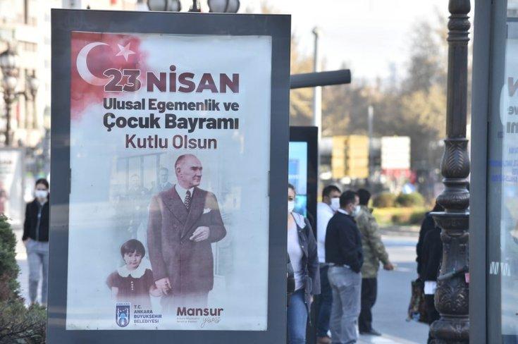 Ankara Büyükşehir Belediyesi, başkenti 23 Nisan'da çocuklar için süsledi