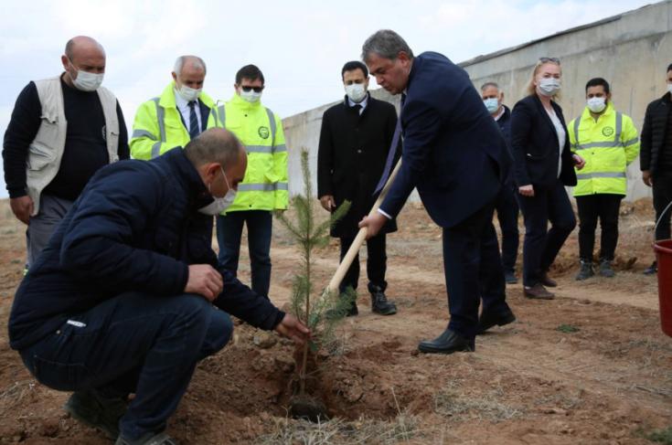 ASKİ'den 'Yeşilin Başkenti' projesine destek: Su arıtma tesislerine 2 günde bin 145 fidan dikildi