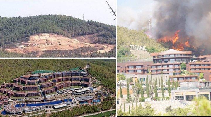 Bodrum'daki yangın devam ediyor