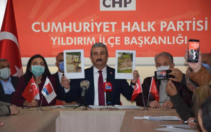 CHP Yıldırım İlçe Başkanı Nihat Yeşiltaş: 'AKP'nin 18 yıldır yönettiği Yıldırım'da anılacak bir tek eseri yok'