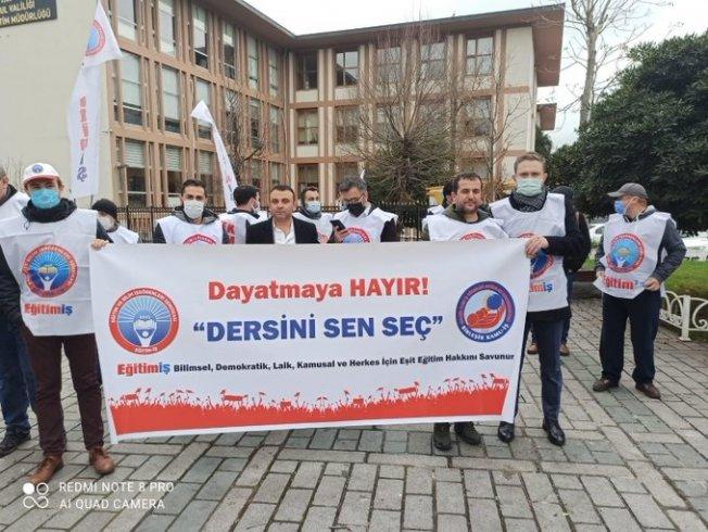 Eğitim-İş İstanbul Şubeleri; Seçmeli derslerle ilgili dayatmaya geçit vermeyeceğiz!