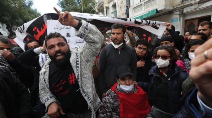 Ekonomik koşulların protesto edildiği Tunus'ta  600'den fazla kişi gözaltına alındı
