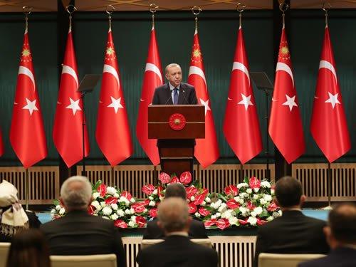 """Erdoğan kabine açıklamasında; '1 Mart itibarıyla yeni """"Kontrollü Normalleşme"""" sürecini başlattık'"""
