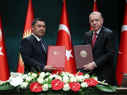 Erdoğan: Kırgızistan'la kardeşlik bağlarımızı daha da güçlendirerek devam ettireceğiz