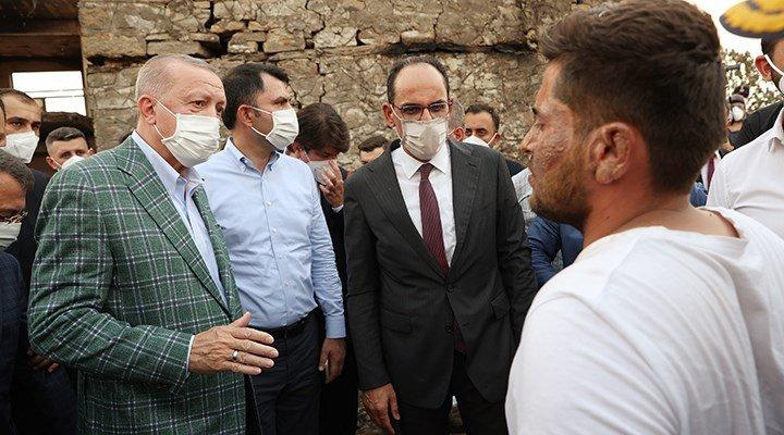Erdoğan'ın ziyaretini muhtar anlattı: Evi yanan köylülere kredi teklif etmiş