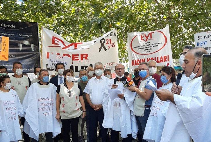 EYT Ege Federasyonu ve İzmir EYTSYD Başkanı Doğan Türker; 'Tüm taleplerimizi örgütlü mücadelemiz ile kazanacağız'