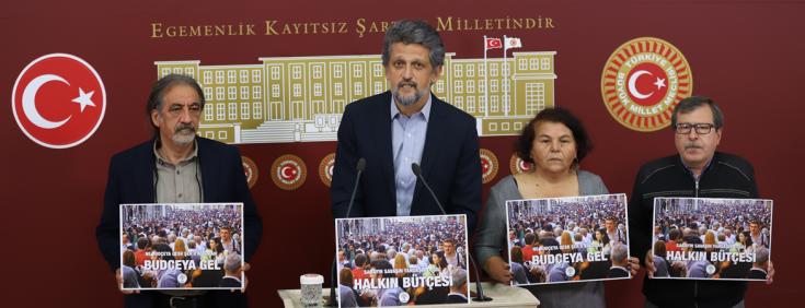 HDP: Halkın bütçesine göre asgari ücretin 5 bin TL olmasını ve vergiden muaf tutulmasını istiyoruz