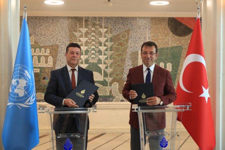 İBB ve UNHCR arasında mültecilere yönelik işbirliği metni imzalandı