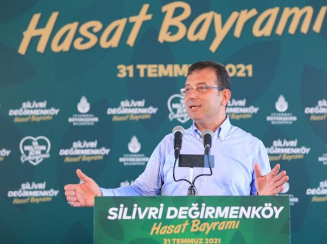 İmamoğlu 'Hasat Bayramı'na katıldı: Kır, kent iş birliğinin en iyi örneğini İstanbul'da vereceğiz