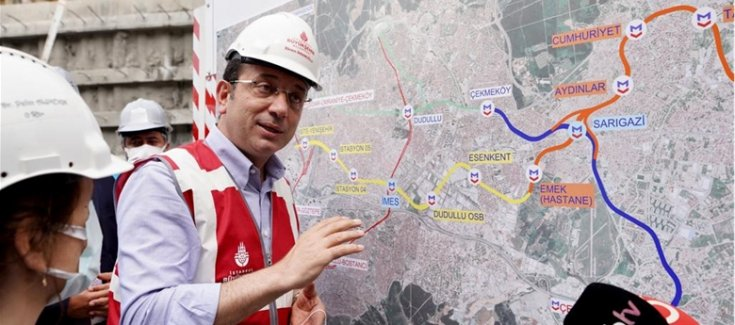 İmamoğlu'ndan 'İBB, metro hattını durdurdu' iddialarına yanıt: Onay çıktığında ve kredi bulunduğunda çalışmalar başlayacak