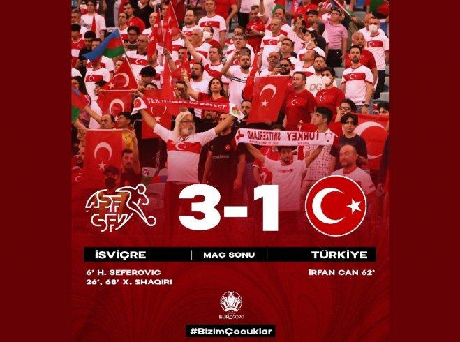 İsviçre 3-1 Türkiye