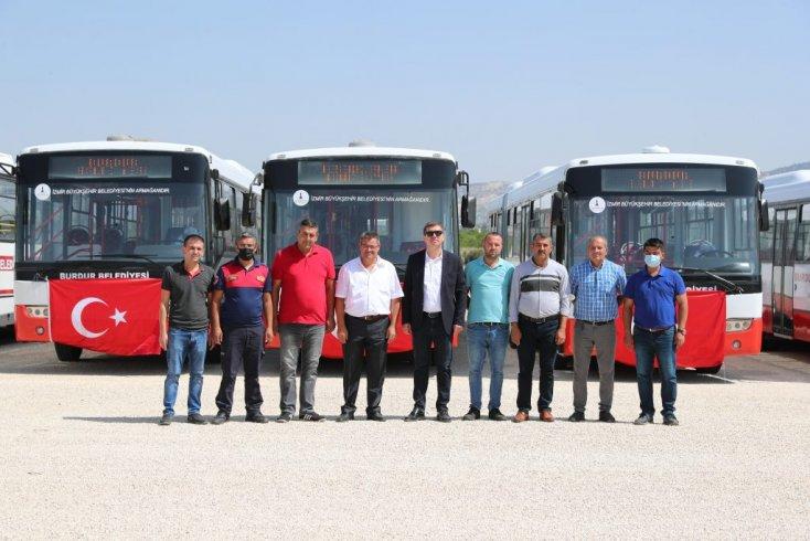 İzmir Büyükşehir'den Burdur Belediyesi'ne otobüs desteği