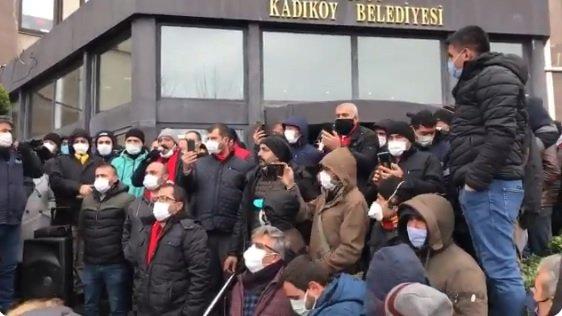 Kadıköy Belediyesi işçileri toplu iş sözleşmesine tepkili
