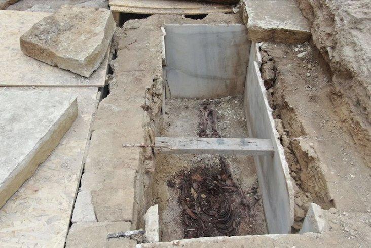 Kazlıçeşme'de Roma dönemine ait mezarlar bulundu