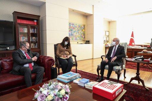 Kılıçdaroğlu, İspanya'nın Türkiye Büyükelçisi Hergueta ile görüştü