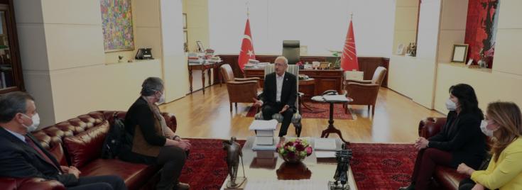 Kılıçdaroğlu, TTB Başkanı Şebnem Korur Fincancı ile bir araya geldi