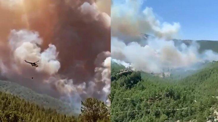 Manavgat ve Burdur Bucak'ta orman yangını
