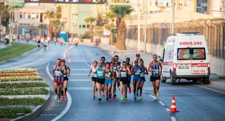 Maratonİzmir'de yarı dünya turu atacak