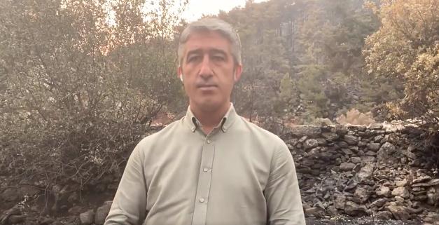 Marmaris Belediye Başkanı Mehmet Oktay yangının söndürüldüğünü soğutma çalışmalarının deva ettiğini duyurdu