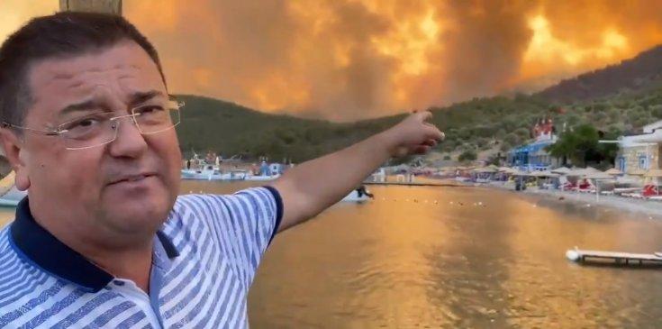 Milas Belediye Başkanı Av. Muhammet Tokat; Yanan Çökertme mahallemize son bakış, Üzüntümüz büyük