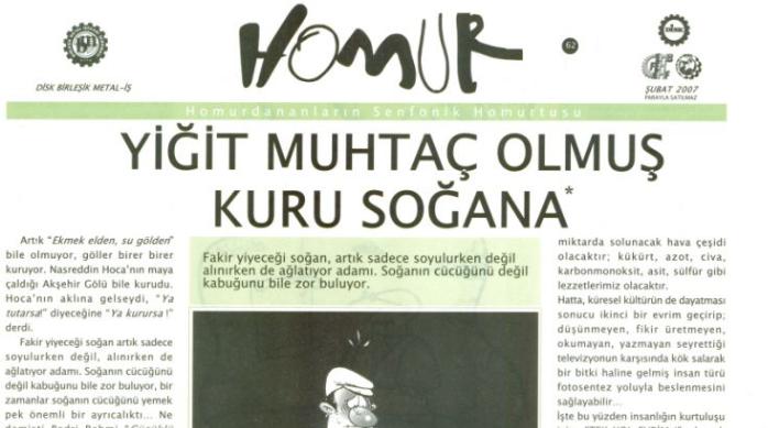 Mizah dergisi Homur'dan iktidara açık mektup