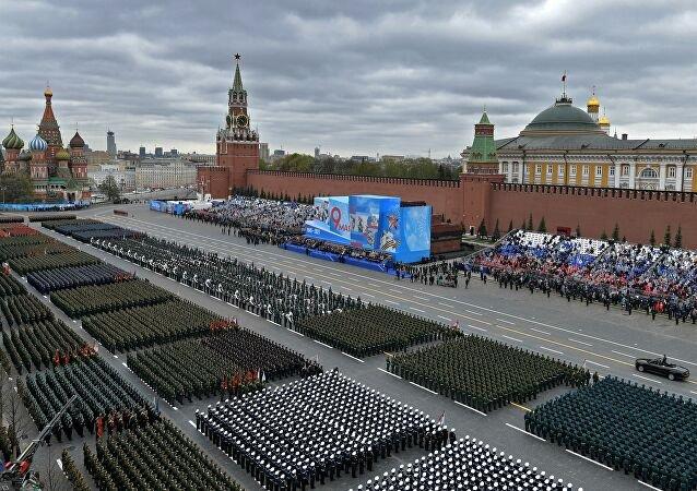 Moskova'da Nazilere karşı kazanılan zaferin 76. yılı kutlandı
