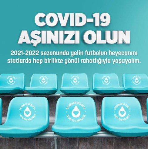 Spor kulüplerinden 'COVID-19 aşınızı olun' kampanyası