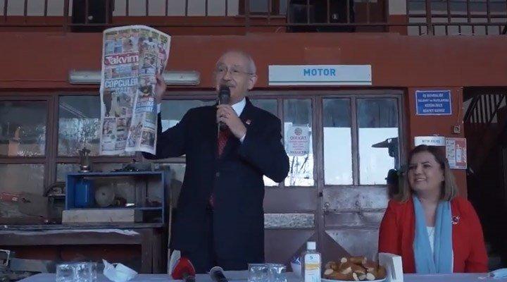 """Takvim'in """"Çöpçüler kralı"""" manşetine Kılıçdaroğlu'ndan yanıt: Kralı değilim, yoldaşıyım"""