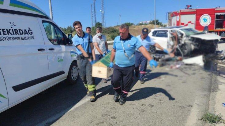 Tekirdağ'da trafik kazası: 3 ölü, 1 ağır yaralı