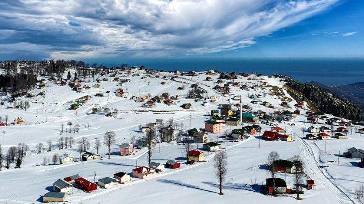 Trabzon'un Hıdırnebi Yaylası'nda kış güzelliği