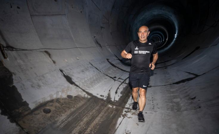Tunç Soyer'den metro tünelinde sabah koşusu