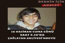 Berkin Elvan davasının 20. duruşması 18 Haziran'da Çağlayan adliyesinde görülecek