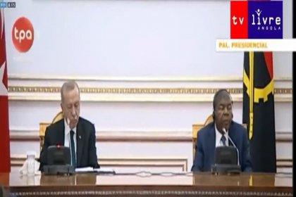 Erdoğan'ın, Angola Cumhurbaşkanı ile görüştüğü anlar sosyal medyada gündem oldu