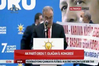 AKP il kongresinde pankartlı protesto: 'Anama-karıma küfür eden belediye başkanı istemiyorum'