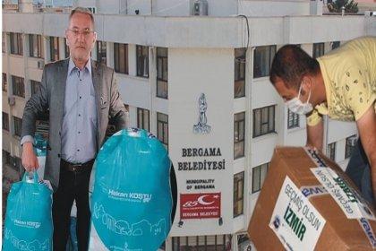 AKP'li Bergama Belediyesi, deprem yardımlarını 6 ay saklayıp Ramazan kolisi yapmış!